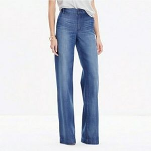 Madewell high waist wide leg jeans
